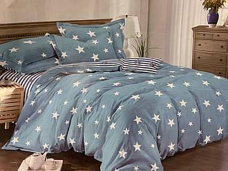 Двуспальный комплект 177х217 «Звезды и полосы» из сатина