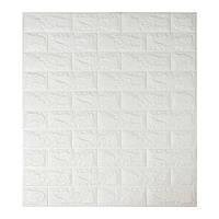 Декоративные 3Д стеновые панели под кирпич Белый 700х770х7мм