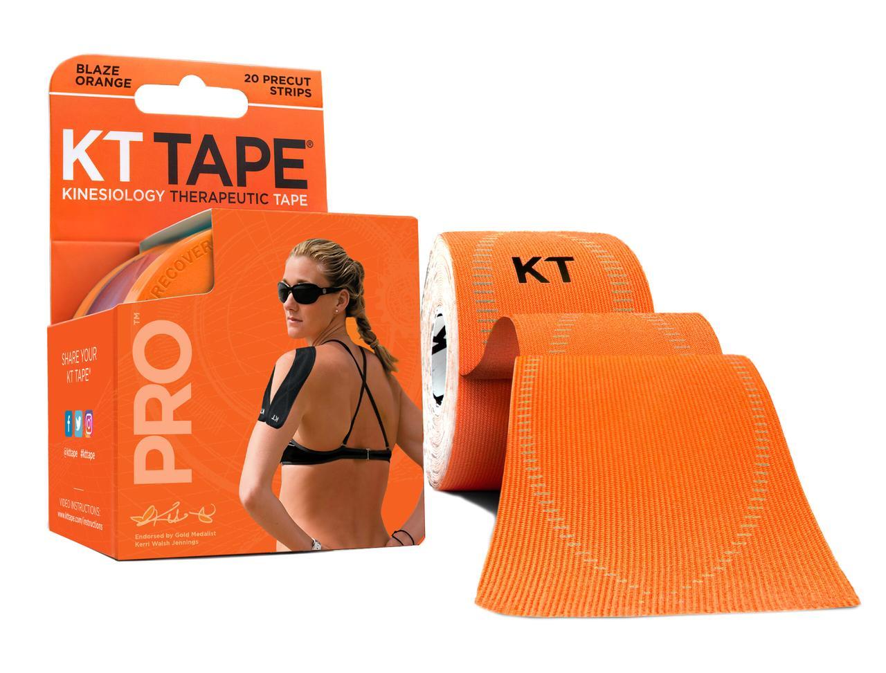 Кинезио тейп Kt Tape Pro Synthetic Precut 5см х 5м (Оранжевый)
