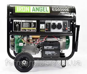 Генератор бензиновый IRON ANGEL  EG5500E  (5,2 кВт, электростартер)