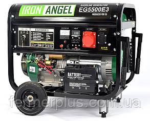 Генератор бензиновый IRON ANGEL  EG5500E3  (5,2 кВт, электростартер, 3 фазы) Бесплатная доставка