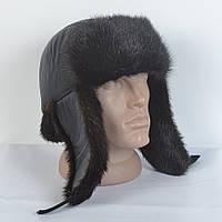 Теплая мужская шапка на зиму из натурального меха норки