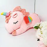 Сказочный единорог 3 в 1(плед+игрушка+подушка) Розовый!, фото 2