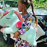Сказочный единорог 3 в 1(плед+игрушка+подушка) Розовый!, фото 3