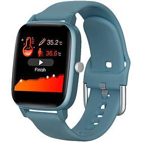 Смарт часы с термометром Smart Watch Gelius Pro (IHEALTH 2020) /IP67/ Midnight Blue