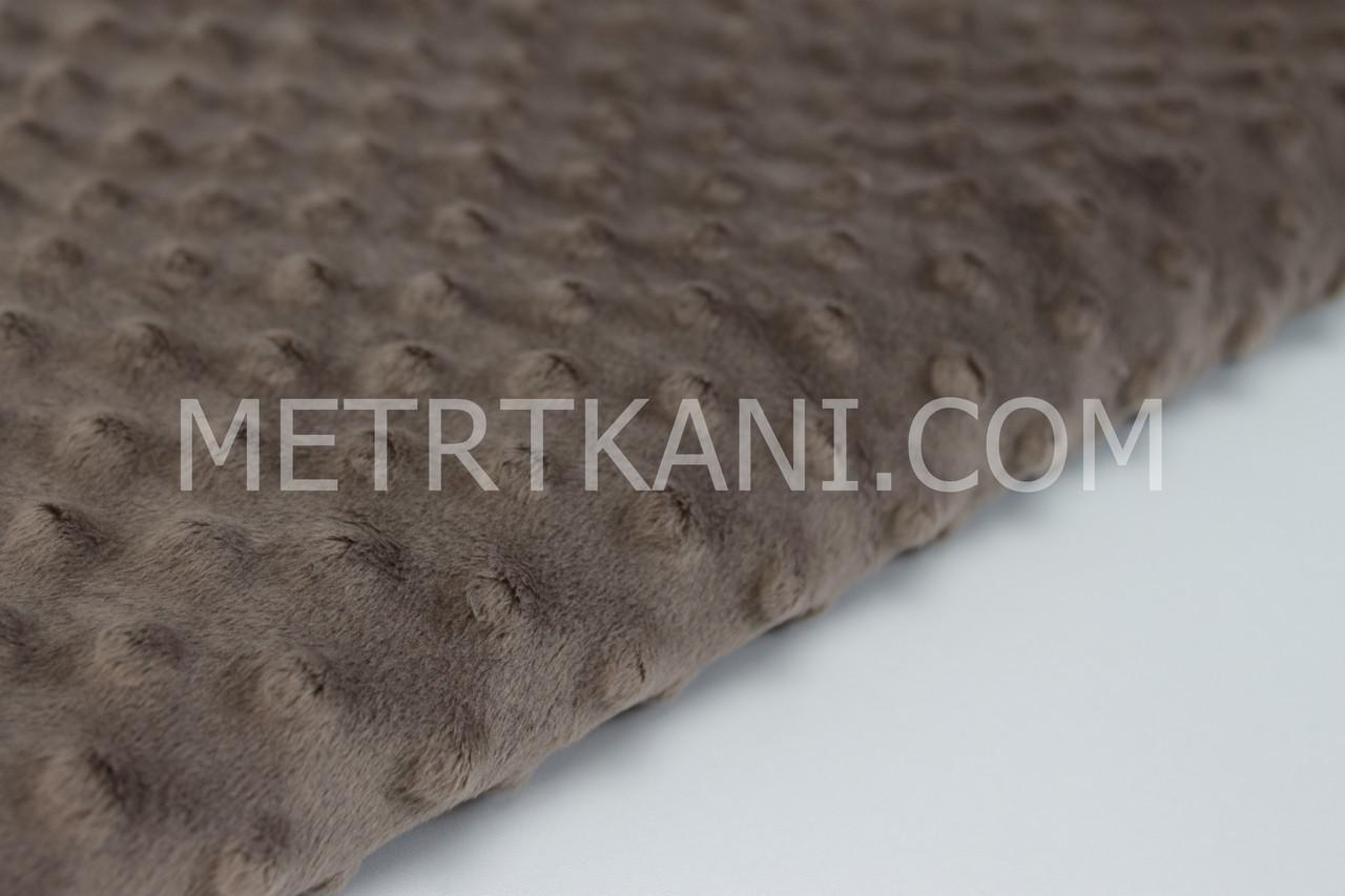 Лоскуток. Плюш для пледов Минки цвет  молочный шокола 320 г /м2.    55*60 см