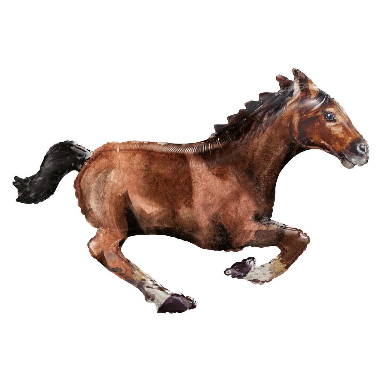 """A 25"""" x 40"""" Galloping Horse Foil Balloons - Pkg. Фольгированный шар фигура Лошадь в галопе. В УП"""
