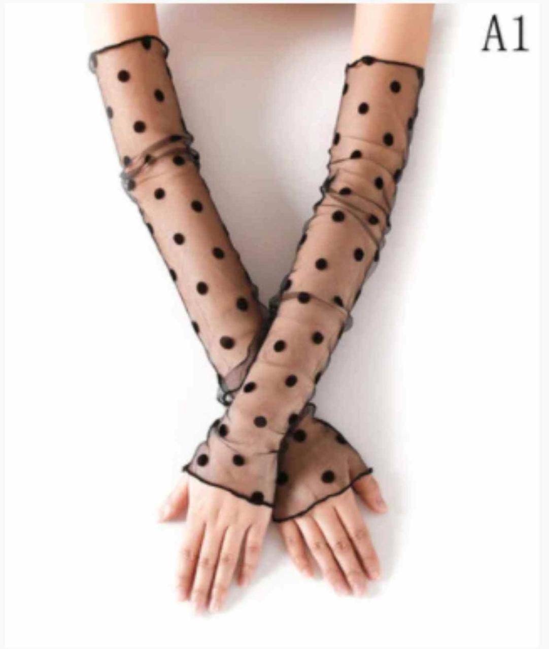 Перчатки женские без пальцев вечерние