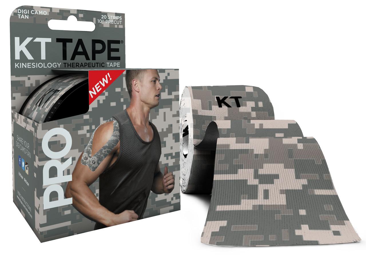 Кинезио тейп Kt Tape Pro Limited Edition Synthetic Precut 5см х 5м (Камуфляжний сірий)