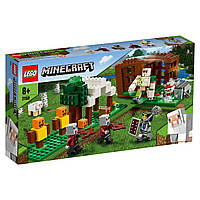 Конструктор LEGO Minecraft Аванпост разбойников 21159 | набор лего майнкрафт ориинал на 303 детали