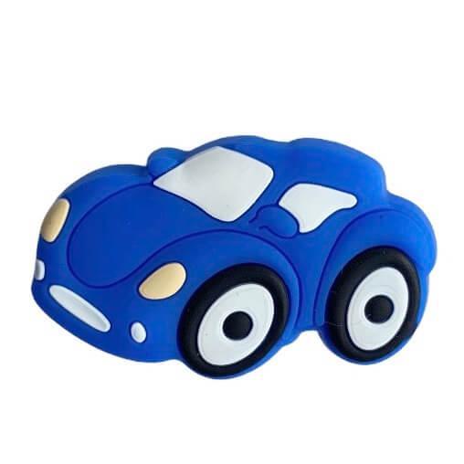Мини Гоночная Машинка бусина (темно-синий) силиконовая бусина