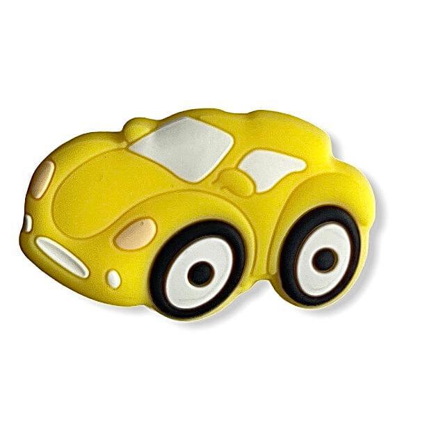 Міні Гоночна Машинка намистина (жовтий) силіконова намистина