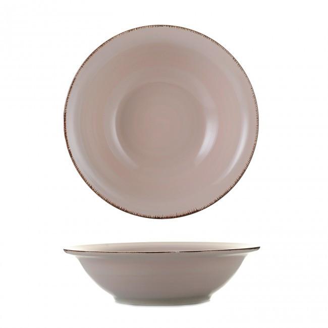 Салатник керамический Глазурь пудра 21см