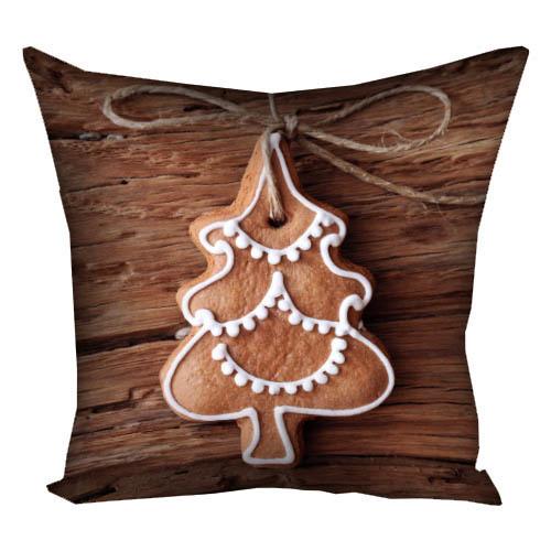 Подушка с принтом Рождественские печеньки 40x40 см (4P_NGNAS108)