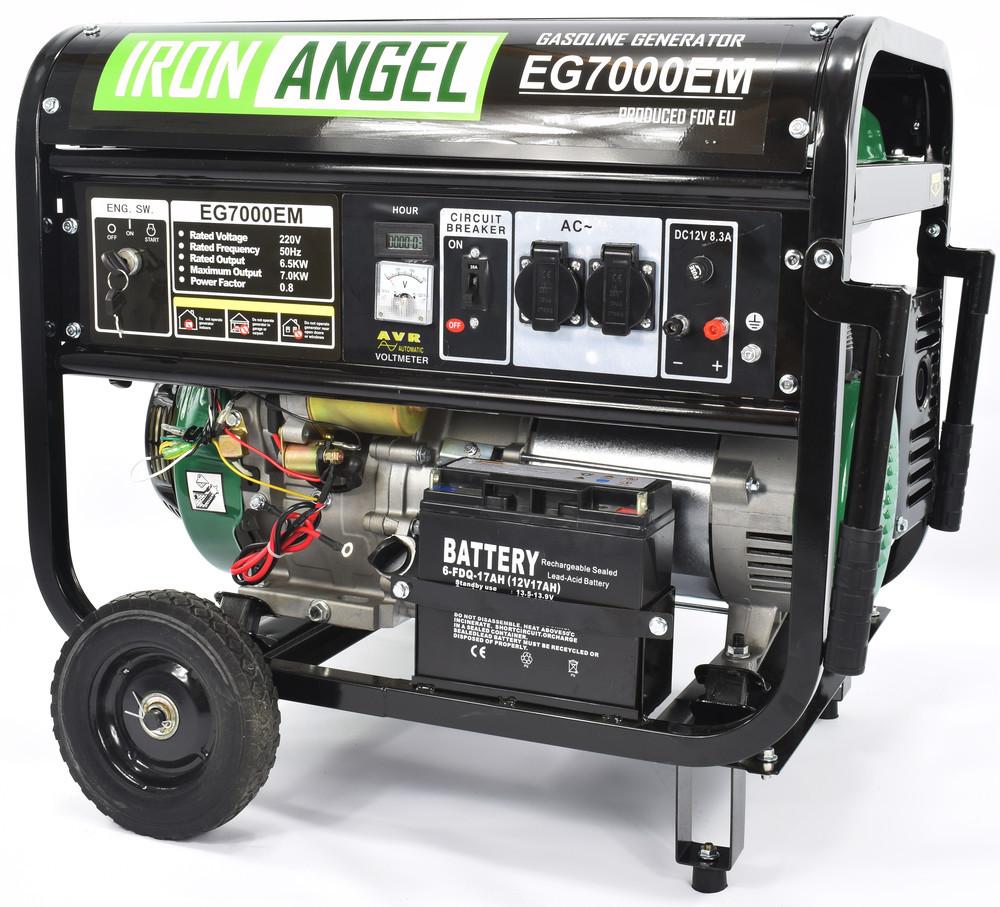 Генератор бензиновый 6.5-7.0кВт 15.0лс Iron Angel EG 7000EМ