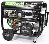 Генератор бензиновый 6.5-7.0кВт 15.0лс Iron Angel EG 7000EМ, фото 1