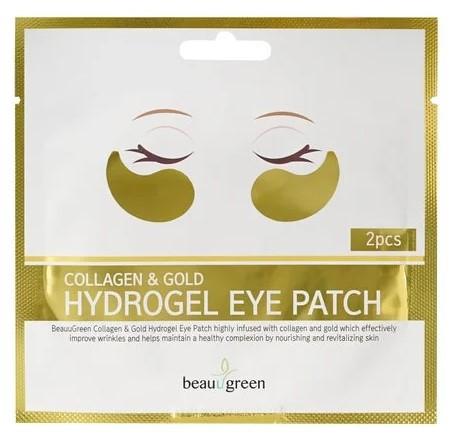 Гідрогелеві патчі під очі BeauuGreen Collagen & Gold Hydrogel Eye Patch 2 шт