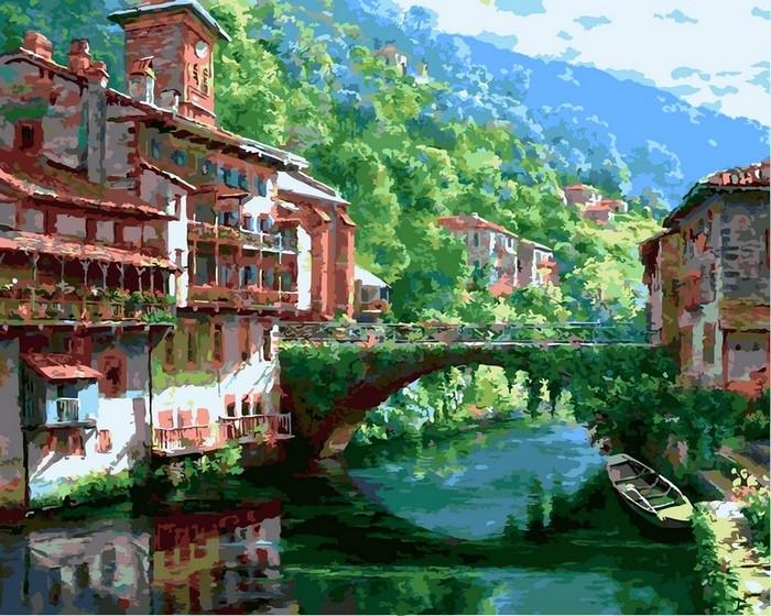 Картина по номерам 40×50 см. Babylon Прекрасный вид Художник Парк Сунг Сам (VP-245)