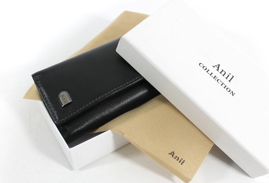 """Кожаный кошелек-ключница с фиксацией на кнопки Anil """"YR 733-А"""""""