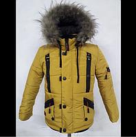 Зимняя куртка для мальчика Утепление двойным синтепоном Подкладка из меха М18