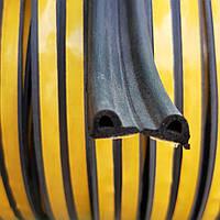Уплотнитель самоклеющийся Sanok Р-профиль 9×5.5 мм (черный) бухта 100 метров, фото 1