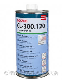 Очиститель профиля металлопластиковых ПВХ окон Cosmofen 10 для средних царапин и потертостей