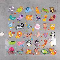 Термотрансферні Наклейки для Тканини FOREST ANIMALS великий лист