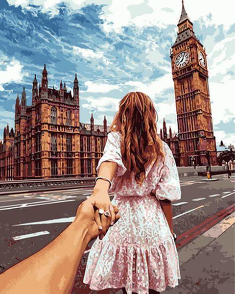 Картина по номерам 40×50 см. Babylon Cледуй за мной Лондон Фотохудожник Мурад Осм.анн (VP 706)