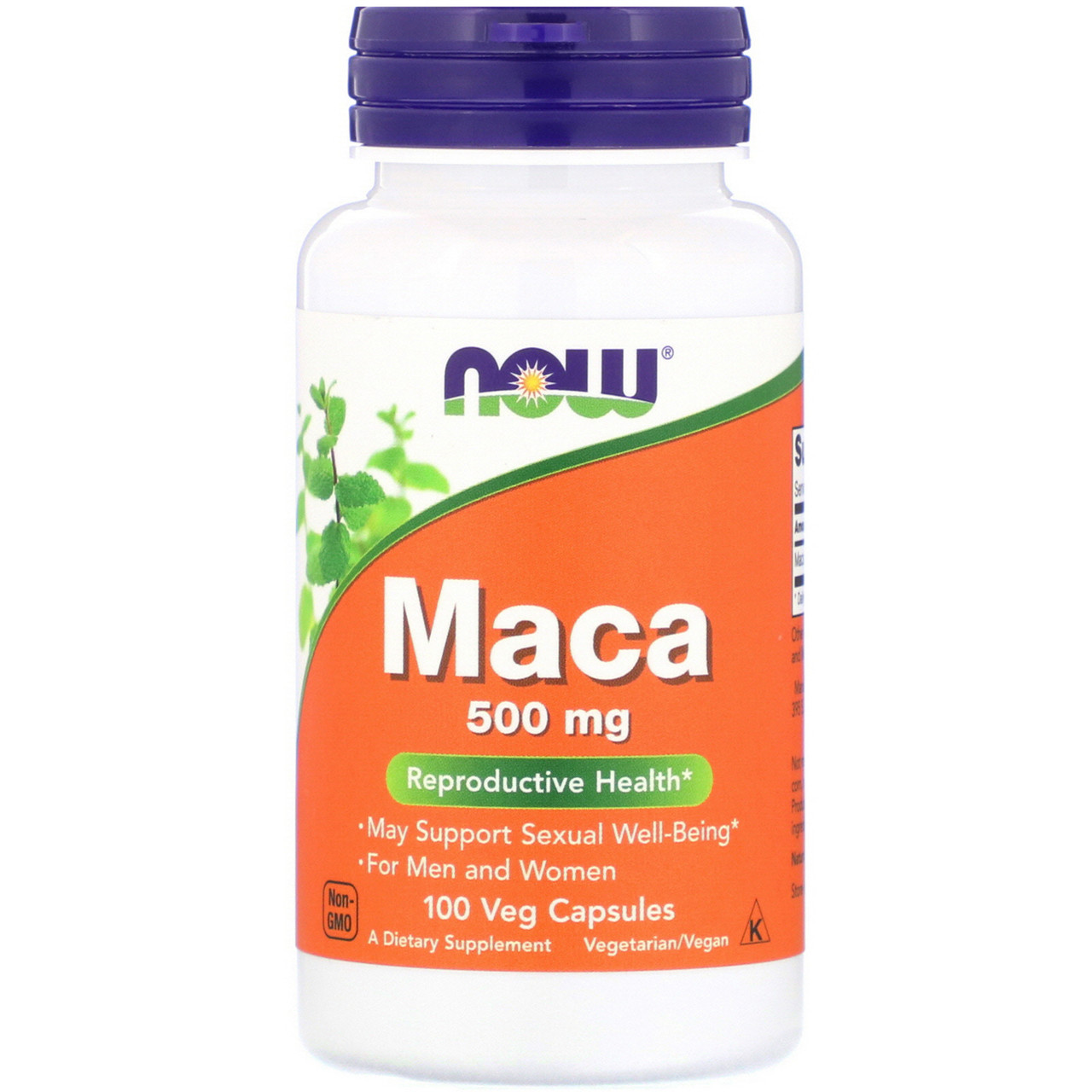 Now Foods Maca 500 mg 100 veg capsules