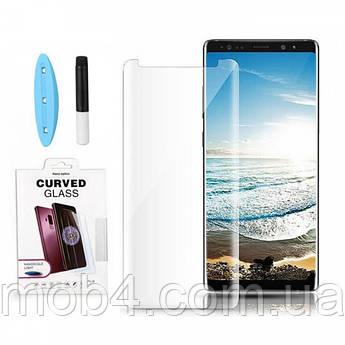 Прозоре захисне скло Full Glue + Lamp для Samsung (Самсунг) Note 8