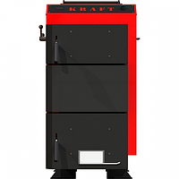 Шахтный котел Kraft серия D 25 кВт нижнего горения из котловой стали с ручным управлением