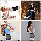 Пояс-корсет для підтримки спини PowerPlay 4305 Чорно-сірий 90*24 см, фото 8