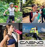 Пляшка для води CASNO 650 мл KXN-1157 Сіра, фото 8