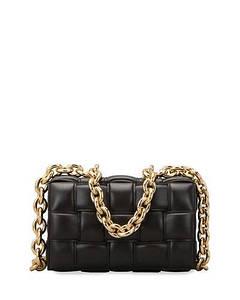 Сумка-клатч Bottega Veneta The Chain Cassette люкс копия Черная