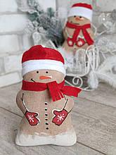 Авторский снеговичок,  кофе,какао,корица, снеговик 19 см., 115/90 (цена за 1 снеговика + 25 гр.)