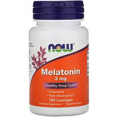 NOW Foods Melatonin 3 mg 180 Chewable lozenges