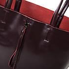Сумка кожаная женская Alex Rai wine-red, фото 3
