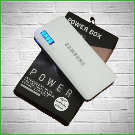 Power Bank SAMSUNG копия + LED фонарик, 3 USB, повер банк универсальная батарея, внешний аккумулятор, фото 2