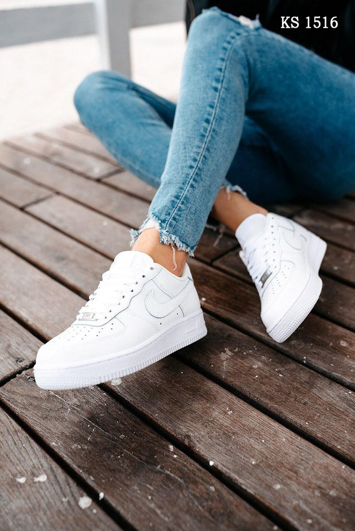 Nike Air Force 1 low (белые) cas