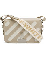 Сумка-клатч Off-White Diag MiniI Flap Bag люкс копия Бежевая