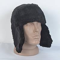 Мужская шапка ушанка из плащевки - Искусвенный мех Мутона (код 29-231)