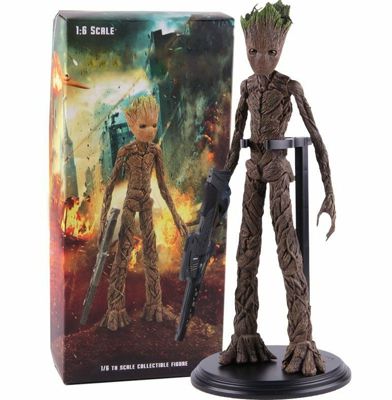Фигурка из Стражи Галактики Дерево Грут с оружием -  Guardians of the Galaxy Groot