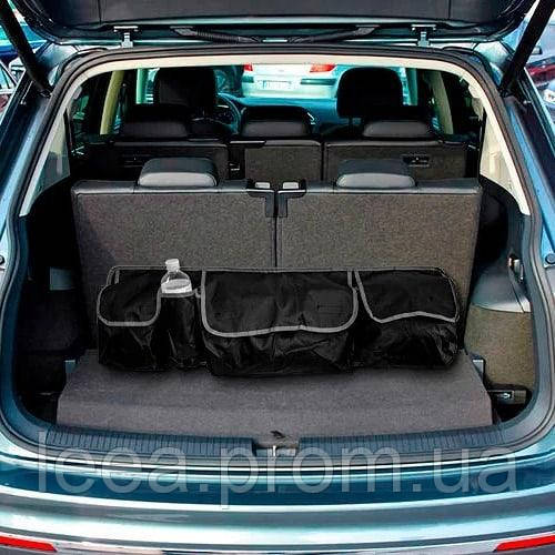 Органайзер в багажник автомобиля с липучками и ремнями фиксаторами, органайзер на спинку сидения