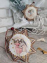 Двухсторонняя Рождественская звезда, кофе,какао,корица,  звезда 14 см., 120/95 (цена за 1 звезду + 25 гр.)