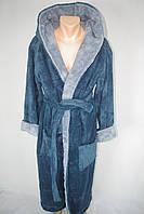 Красивый мужской махровый халат для бани M,L,XL,XXL,XXXL