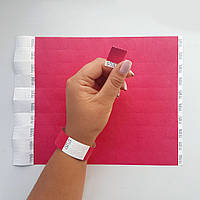 Контрольные бумажные браслеты на руку неоновые с логотипом для клуба Tyvek 3/4 (19 мм), фото 1