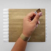 Контрольные бумажные браслеты на руку неоновые с логотипом для клуба Tyvek 3/4 (19 мм)