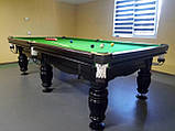 Бильярдный стол Ферзь снукер 12 футов Ардезия 3.6 м х 1.8 м из натурального дерева, фото 5