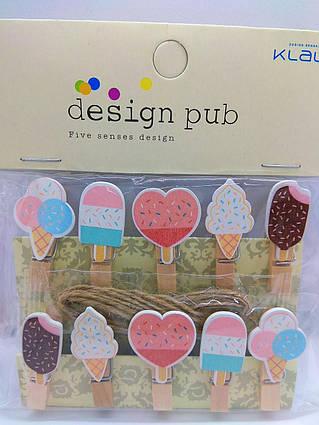 Міні прищіпки для декору морозиво 10 штук