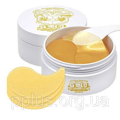 Омолаживающие патчи для глаз с золотом Elizavecca Gold Hyaluronic Acid Eye Patch 60 шт, фото 2
